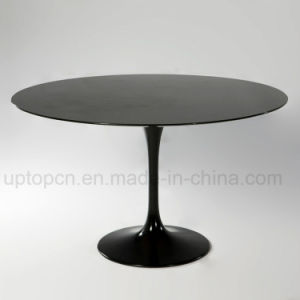 Best-Selling Trumpet Base Stone Restaurant Cafe Dining Table (SP-GT109) pictures & photos