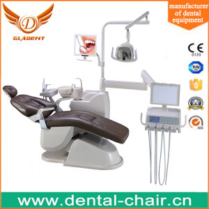 Dental Chair with Multi-Articulated Headrest and Floor Fixed Unit Box pictures & photos