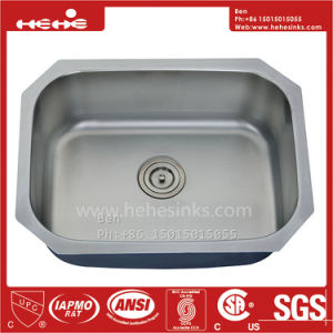 "24-3/4""X18-3/4"" Stainless Steel Under Mount Single Bowl Kitchen Sink pictures & photos"