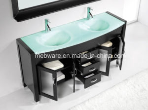 Floor Mounted Solid Wood Bathroom Cabinet pictures & photos