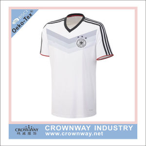 Polyester Quick Dri Team Wear Soccer Jersey with Applique Embroidery pictures & photos
