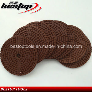 D100mm Brown Color Stone Wet Polishing Pads pictures & photos