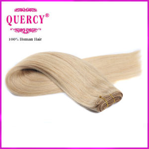 Light Blond Color 100% Human Virgin Remy Hair Weft pictures & photos
