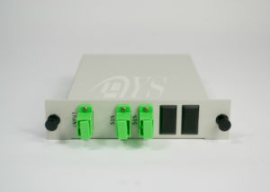 1 X 2 PLC Fiber Optics Splitter with LC / Upc Connector, CATV Links pictures & photos