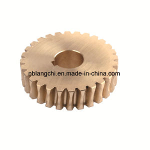 High Speed Transmission Parts Bronze Worm Wheel Gear pictures & photos