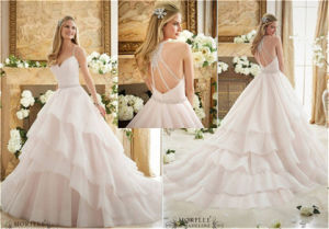 2016 New Hot-Selling Organza Bride Wedding Dress, Customized