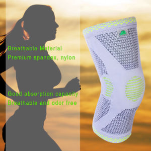 Kangda Knee Compression Sleeve Support for Running, Jogging, Sports, Basketball, Knee Brace pictures & photos