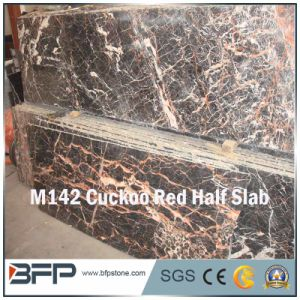 Cuckoo Red Marble Stone Building Material Half Slab pictures & photos