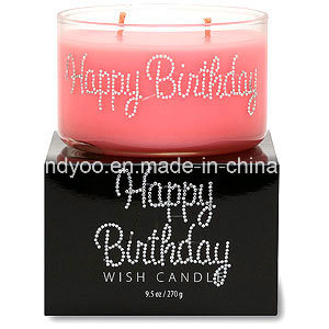 Two Wicks Scented Soy Birthday Candle pictures & photos