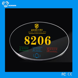 Bonwin LED Backlight Design Door Number Plates pictures & photos