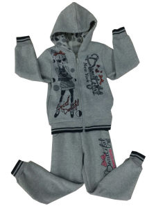 Fashion Fleece Kids Girl Sportswear Suit in Children ′s Clothes Swg-132 pictures & photos