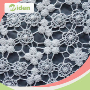 Eco Friendly Gray Organza Lace Fabric for Wedding Dress pictures & photos