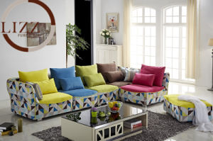 6seater Colorful Fabric Sofa pictures & photos