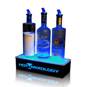 Lightweight Acrylic LED Plinth for Wines, Plexiglass LED Display Box pictures & photos