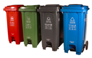 Ultrastrong Outdoor Waste Bin with Wheels Gt-240u pictures & photos
