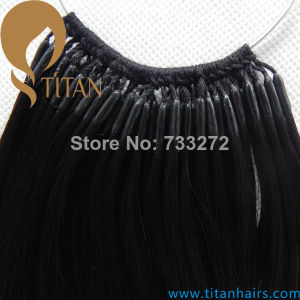 100% Remy Human Hair Extension in Cotton Thread Style