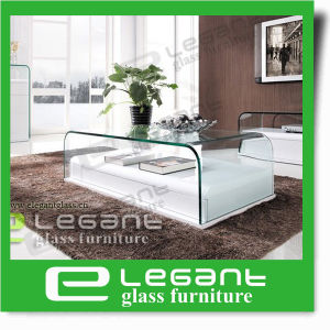 Bent Glass Coffee Table with MDF Base pictures & photos