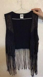 The Latest Coat Leisure Black Fashion Tassels Ladies, Vest pictures & photos
