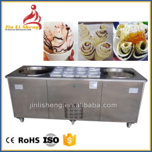 Single or Square Double Pan Thailand Fry Ice Cream Machine pictures & photos