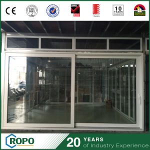 Plastic Sliding Double Glass Outside Door with Locks pictures & photos