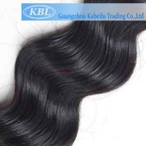 5A Brazilian Loose Wave Jet Black Hair Extension pictures & photos