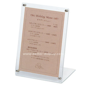 Custom Clear Acrylic Sign Holder with Logo pictures & photos
