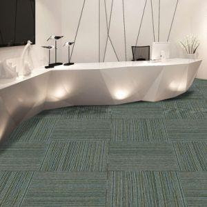 Impression - 1/10 Gauge Flat Loop Jacquard Flooring Carpet Tile with Bitumen Backing pictures & photos