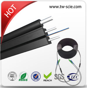 2 Core Cimmunication and Telecom FTTH Drop Cable G657A Gjyxch with Steel Messenger pictures & photos