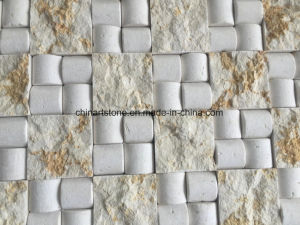 China White/Beige/Brown Marble Mosaic (lantern) for Wall Tile pictures & photos
