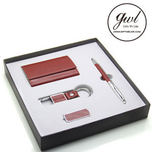 High Class Corporate Gifts Leather Card Holder in Business Special Gift Set pictures & photos