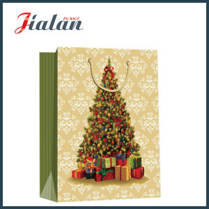 Cheap Coated Paper Printed Christmas Tree Design Shopping Gift Bag pictures & photos