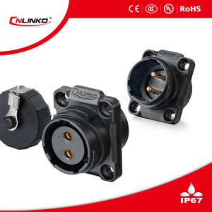Waterproof Outlet/Circular Power Connectors/Panel Mount Connector pictures & photos