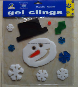 Christmas Glitter Window Jelly Gel Stickers Xm-C-1060 Christmasdecoration pictures & photos