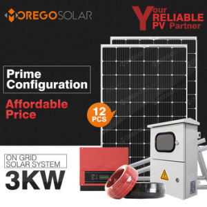 Morege Complete 3000W Grid Tie Photovoltaic Solar Panel System pictures & photos