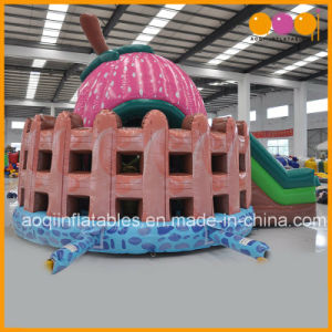 Girl Toys Cute Inflatable Strawberry Castle Bouncer and Slide Air Jump for Sale (AQ01672) pictures & photos
