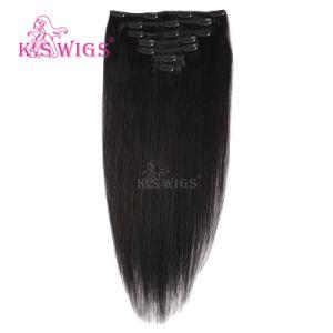 Remy Human Hair Virgin Brazilian Hair Clip in Hair Extension pictures & photos