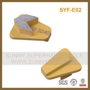 Redi Lock Diamond Concrete Grinding Shoe for Scanmaskin Grinder pictures & photos