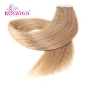 Double Drawn Virgin European Human Tape in Hair Weaving pictures & photos