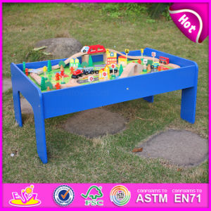 2015 New Arrival Wooden Railway Train Toy for Kid, Fashion Wooden Railway Train Set, Roller Coaster Track Table Wholesale W04c009A pictures & photos