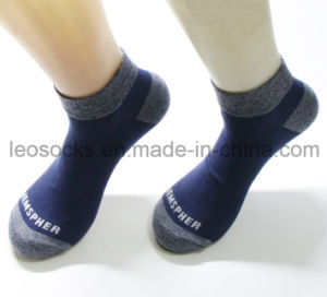Plain Low Cut Socks with Different Colour for Toe and Heel pictures & photos