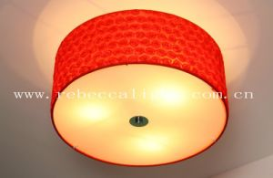 Modern Hotel Project Red Fabric Shade Pendant Lamp pictures & photos