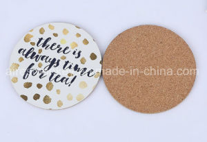 Round Printed Custom Paper MDF Cork Back Cup Coaster pictures & photos