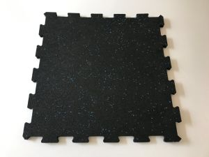 15mm Thick Interlocking Jigsaw Rubber Gym Floor Mats pictures & photos