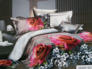 100% Polyester 3D Sceen Printed Sheet Set pictures & photos