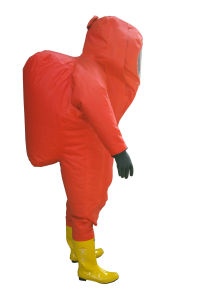 Heavy Duty Chemical Protective Clothing/Totally Enclosed Anti Chemical Suit Air Respirator Inside pictures & photos