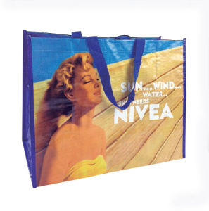 China Cheap Gift Promotional Recycled Laminated PP Woven Bag pictures & photos
