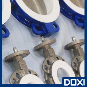 OEM One Piece Half Lined Butterfly Valve pictures & photos