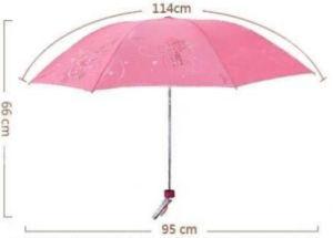 Pink Three Fold Umbrella, Pocket Umbrella (BR-FU-166) pictures & photos