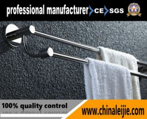Factory Supplier Stainless Steel Wall Mounted Double Bathroom Accessory Towel Bar pictures & photos