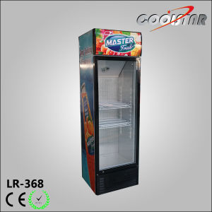 Supermarket Upright Display Refrigerator Soft Drinks Display Showcase (LR-368) pictures & photos